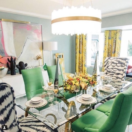 KellyGolightly colour & printastic dining room