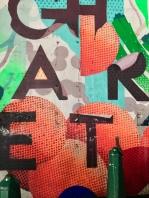 Colour popping street art