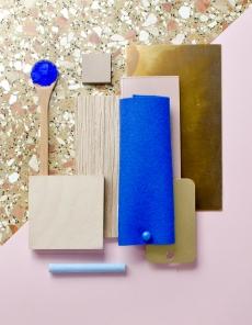 David Thulstrup contemporary mood board with vibrant blue