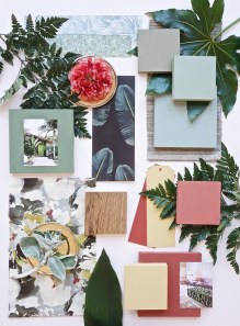 Inspiration from Eclectic Trends natural jungle and floral schemes