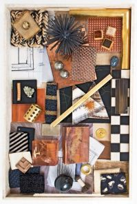 Inspiration from Kelly Wearstler's mood trays