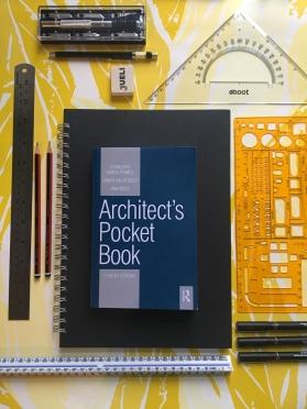 Liznylon heads to design school, pens, pencils, sketch books, rulers