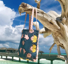 Textile designer Mimi Pickard's Angelica in the Maldives