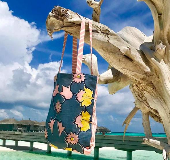 Textile designer Mimi Pickard's Angelica in the Maldives