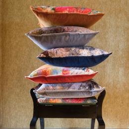 Mairi Helena Thistle Velvet Cushions