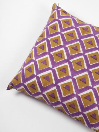Geo Purple Cushion