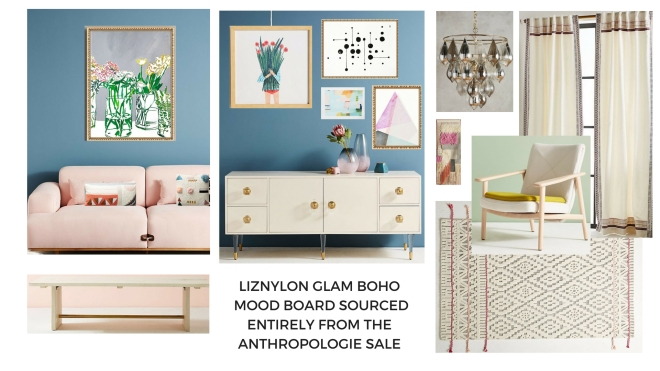 Glam_boho_mood_board_pops_of_soft_colour_gallery_wall