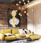 Alchemy_fine_home_industrial_loft_yellow_velvet_sofa