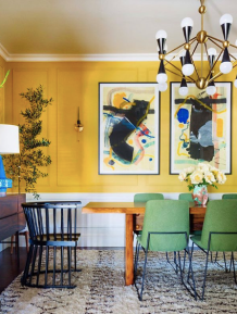 Dabito_midcentury_dining_room_with_yellow_walls