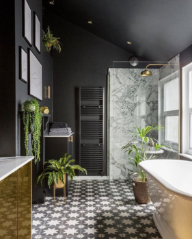 Gold is a Neutral's luxe revamped bath