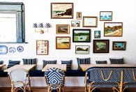Gallery wall of dreams in Paper Daisy restaurant, Source: Halcyon House