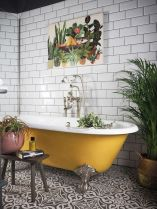 The Idle Hands unexpected yellow roll top bath