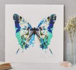 Kitty_McCall_Butterfly_art_print_Papillon_Blue_Vert
