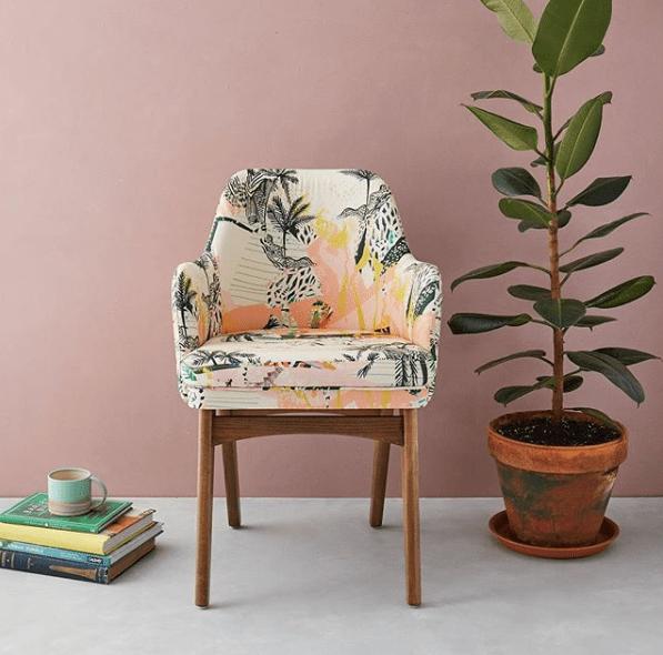 KittyMcCall_blush_QueenPalm_Chair