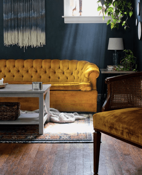 Mustard_Yellow_Sofa_and_dark_walls_FleetingInterest
