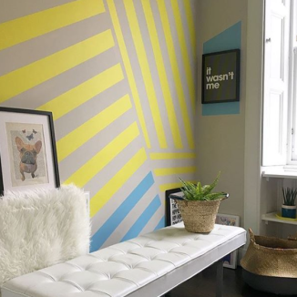 Liznylon_yellow_stripes_wall_mural