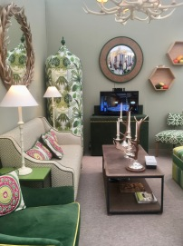 A country retreat vibe with lovely greens