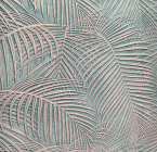 Lincrusta, adds texture to the jungle vibe