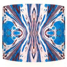 Blue fantasy velvet lampshade