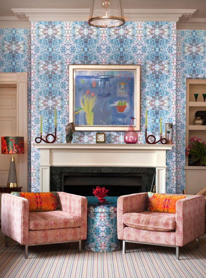 A happy mash up of blues & coral source: Susi Bellamy