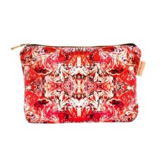 Must have - orange feathered washbag