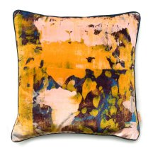 Perfectly abstract - Osmosi giallo velvet cushion