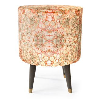 Neutral with a twist - Pietra Grigia velvet stool