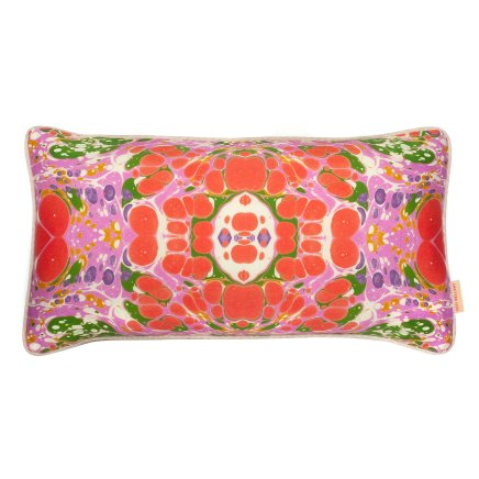 Vibrant & Bold - Tyrolean kaleidoscope marble cotton cushion