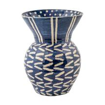 Wicklewood_Double_Layer_Dot_Wiggle_Vase_in_Blue_White