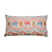 Tiger Tiger cushion in pops of blue and red