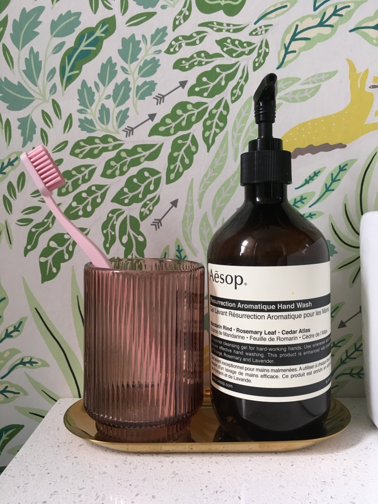 Liznylon_bathroom_with_aesop_soap_pink_hay_toothbrush