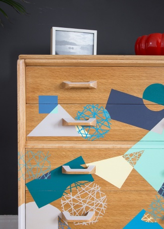 At_Home_with_Happy_Retro_Furniture_Upcycled_Dresser