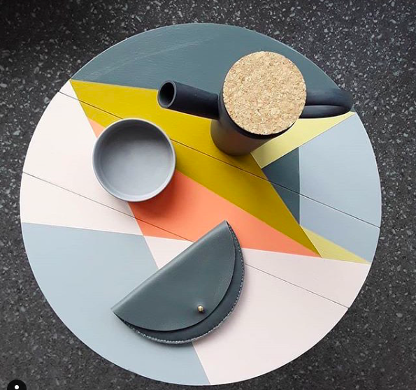 Happy_Retro_Furniture_upcycle_side_table_in_muted_geometric_colours