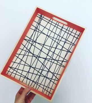 HappyRetro_PaintTrayWorkshop_in_Edinburgh_coral_and_monochrome_tray