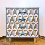 HappyRetroFurniture_uses_CraigandRose_paints_geometric_design_upcycle