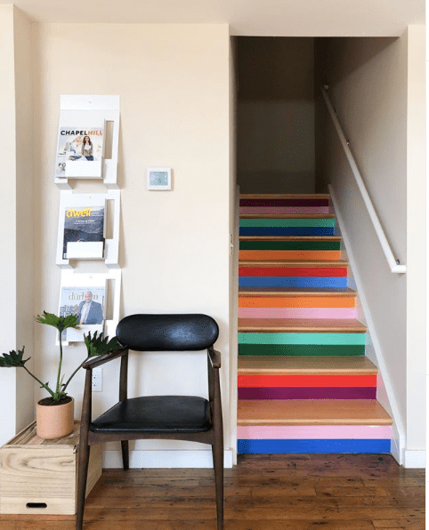 Banyan_Bridges_painted_stair_treads_creates_distraction_from_narrow_hall