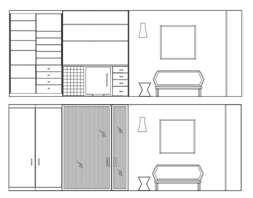 Liznylon_Auto_CAD_elevation_with_built-ins_and_sofa