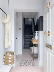 Lust_living_bright_stylish_hallway_monochrome_and_blush
