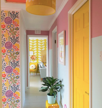 Rachel_Henderson_Studio_bright_hallway_with_fun_paint_effect