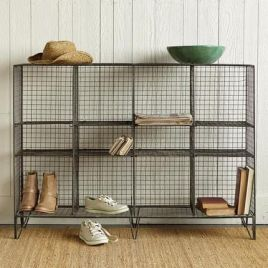 Wire mesh shelves in Sundance catalog