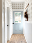 The_Foothill_Farmhouse_light_bright_hallway_with_paneling_and_wallpaper