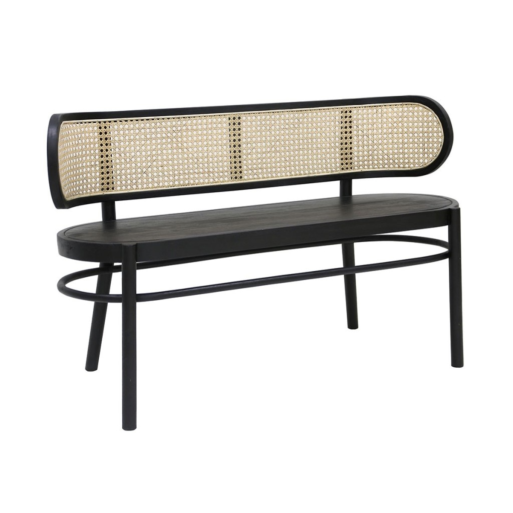 Fleux_Bench_Black_and_Cane_HKLiving