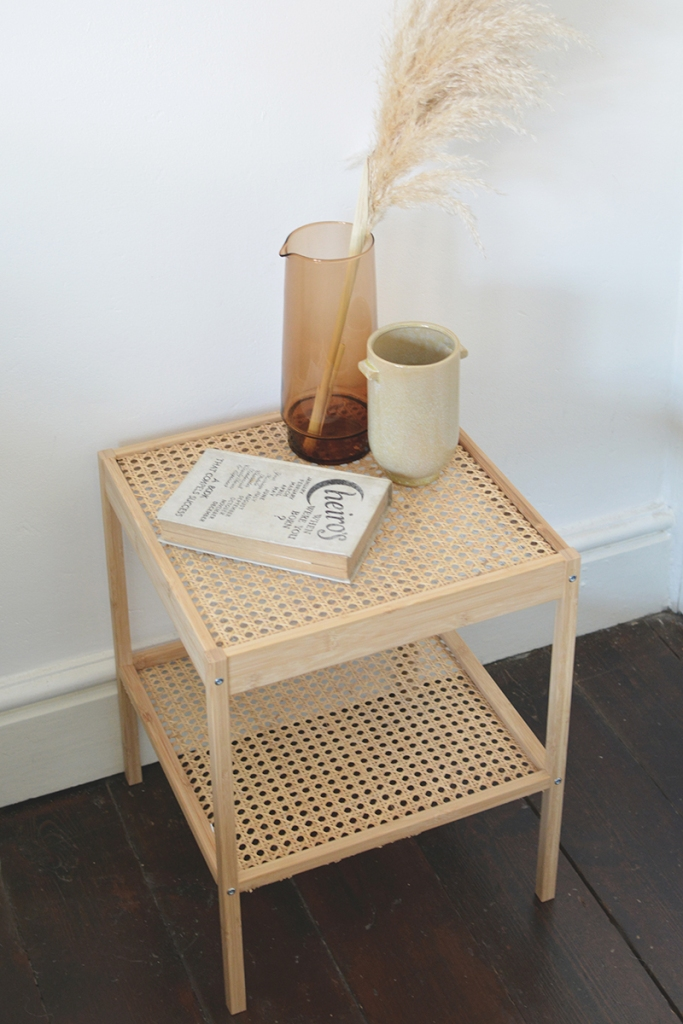 rattan bedside table ikea hack_by_burkatron