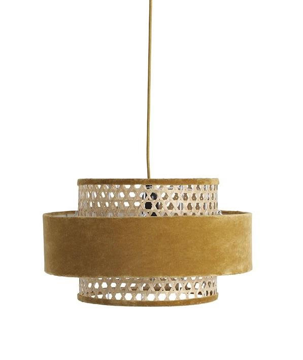 rockettstgeorge_mustard-woven-velvet-pendant-ceiling-light-_cutout_lowres