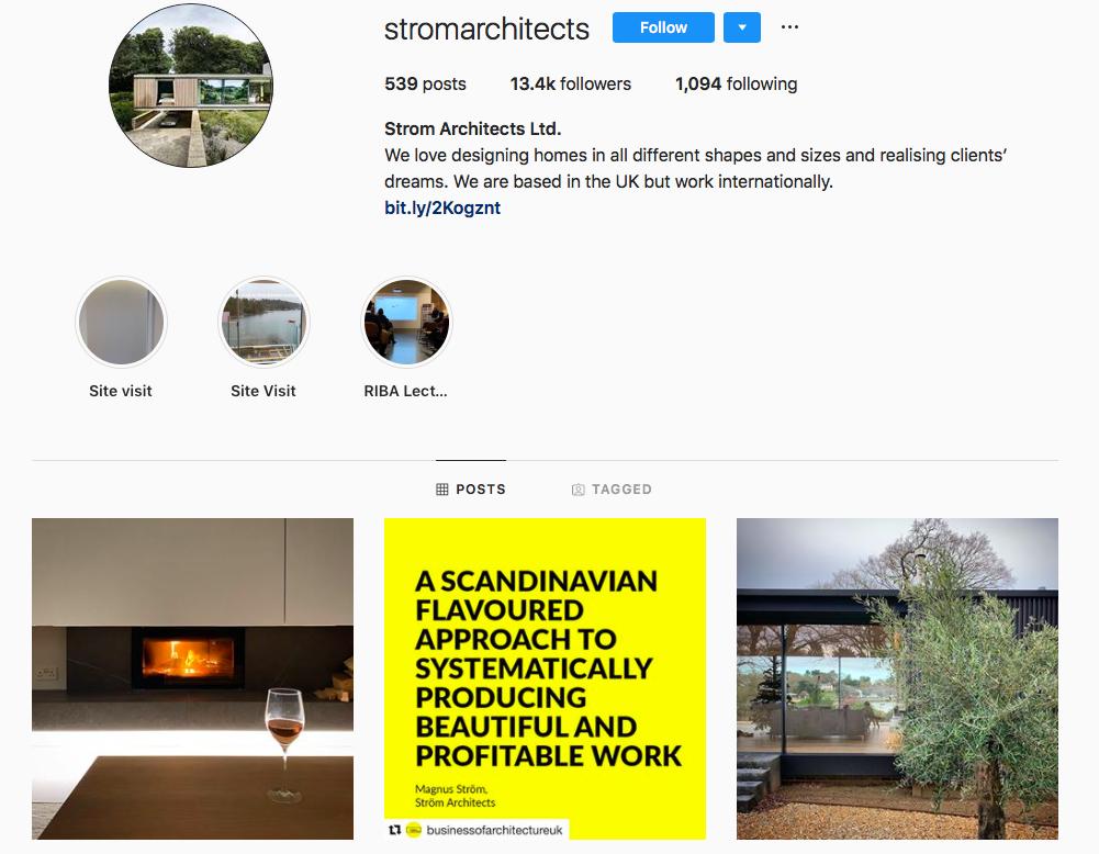 Strom Architects on Instagram