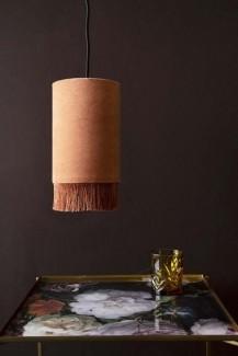 Rockett-StGeorge-velvet-pendant-ceiling-light-with-fringe-dusky-rose