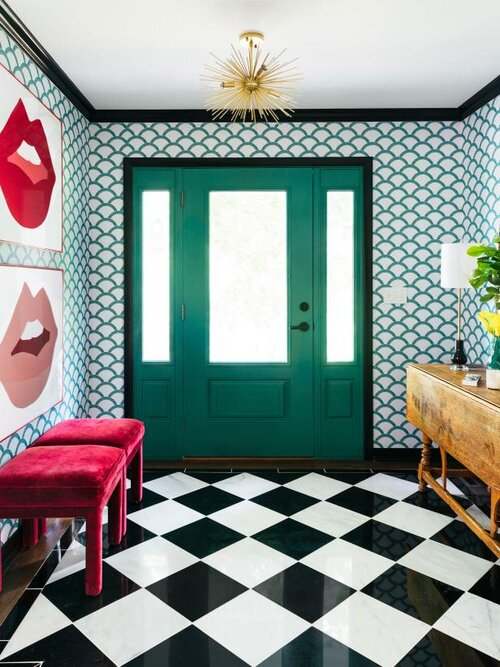 bold-entry-with-wallpaper-painted-woodwork-the-rath-project