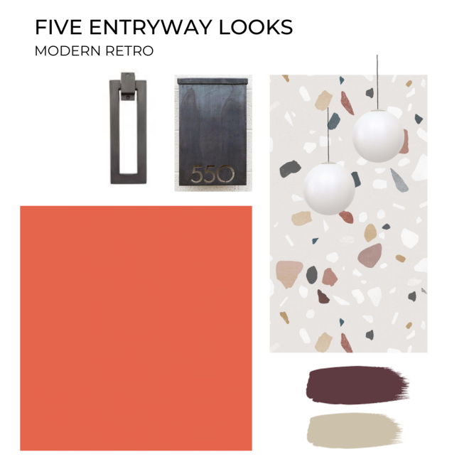 Liznylon-five-entryway-looks-modern-retro-with-terazzo-feature