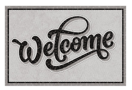 Amara-welcome-vinyl-door-mat-grey-black-mosaic-design