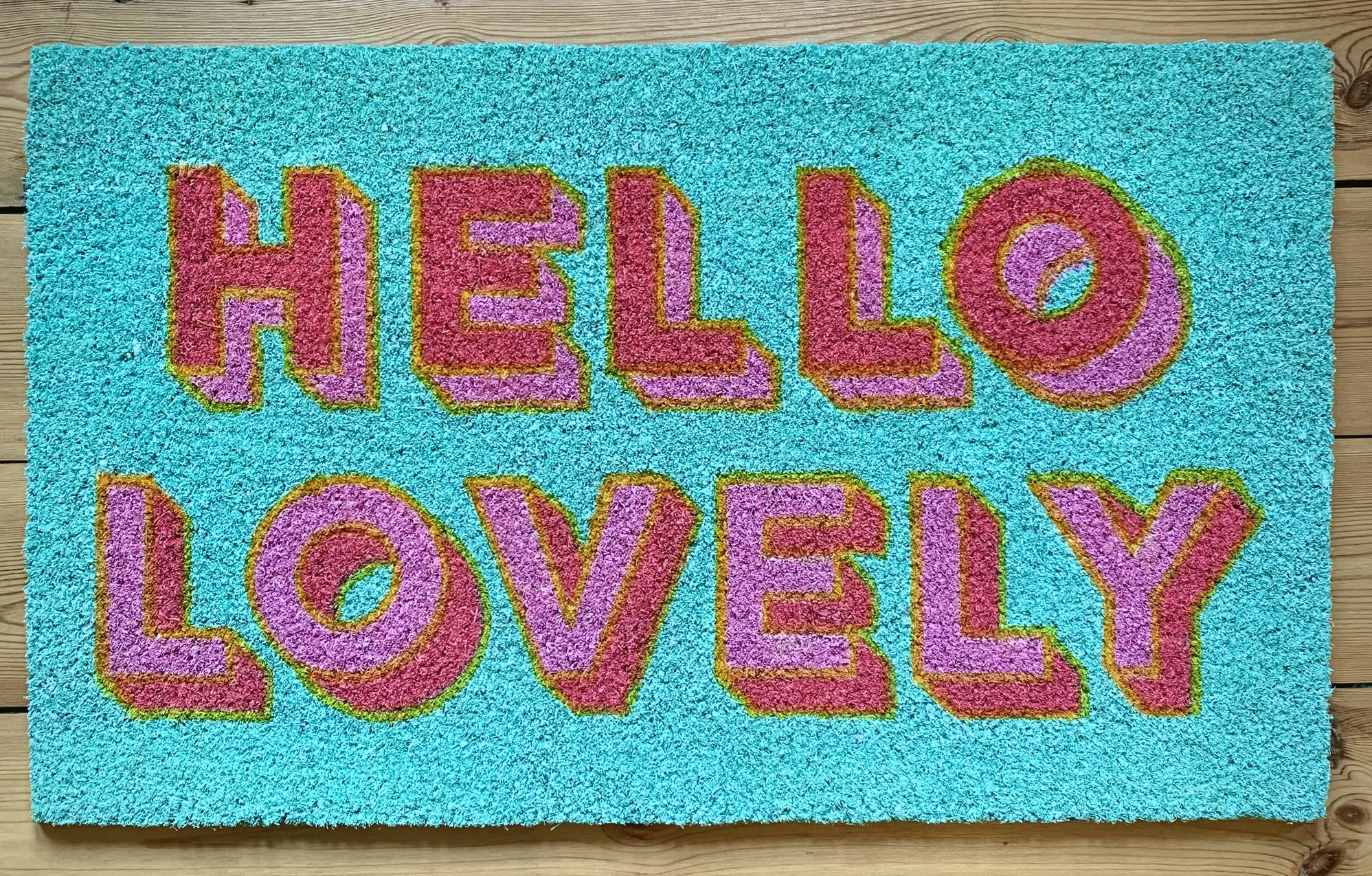 Myles-From-Home-Hello-Lovely-Colourful-Doormat